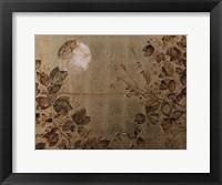 Framed Pannello Dorato Con Foglie