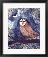 Framed Midnight Owl