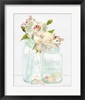 Framed Bath Time Mason Jars