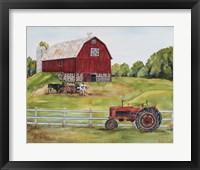 Framed Rural Red Barn B