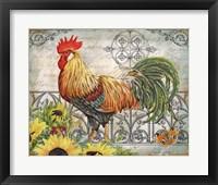 Framed Ironwork Rooster A