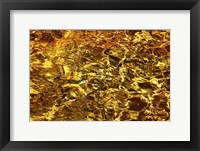 Framed Golden Water Abstract
