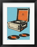Framed Record Player