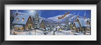 Framed Christmas Town Panorama