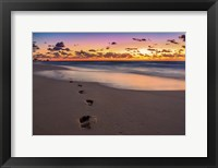 Framed Footsteps At Sunrise