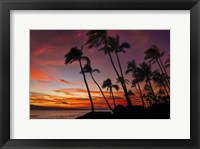 Framed Maui Sunset