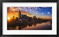 Framed Nashville Sunset