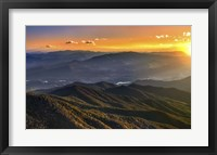 Framed Smoky Mountains Sunset
