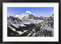 Framed Snow Covered Maroon Bells