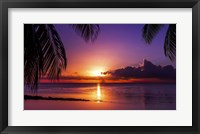 Framed Tahiti Sunset