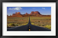 Framed Monument Valley Road