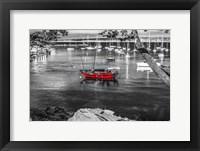 Framed Red Boat Monterey