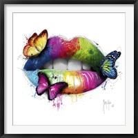 Framed Butterfly Kiss