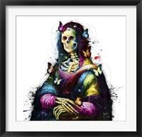 Framed Da Vinci Skull
