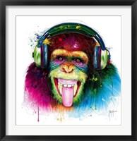 Framed DJ Monkey
