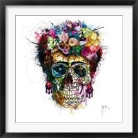 Framed Frida Skull