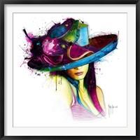 Framed La Jeune Fille au Chapeau