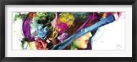 Framed Romantic Flowers I