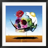 Framed Surreal Skull