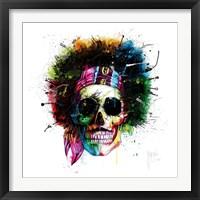Framed Woodstock Skull