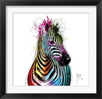 Framed Zebra Pop