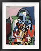 Framed Harlequin Musician, 1924 (Arlequin Musicien)