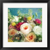Framed Fresh Bright Floral