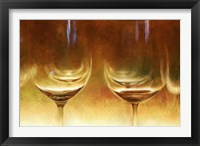Framed Amber Wine Glasses
