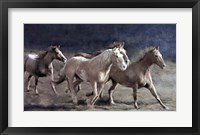 Framed Rustic Running Horse Herd