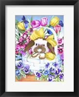 Framed Basket Bunny