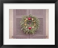 Framed Christmas Wreath Colonial Williamsburg