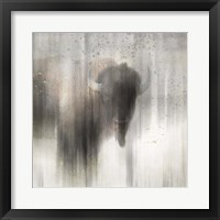 Framed Antique Wildlife Buffalo