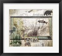 Framed Vintage State Montana