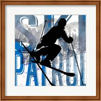 Framed Extreme Skier Word Collage Patrol