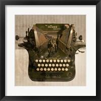 Framed Typewriter 01 Oliver
