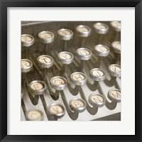 Framed Typewriter 02 Royal keys 1