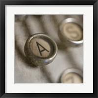 Framed Typewriter 02 Royal keys A