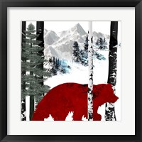 Framed Winter Bear