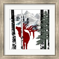 Framed Winter Elk