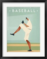 Framed Vintage Baseball