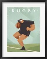 Framed Vintage Rugby
