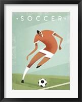 Framed Vintage Soccer
