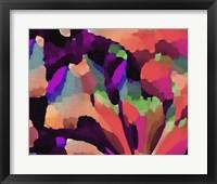 Framed Living Coral Floral