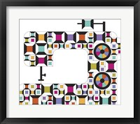 Framed Colorful Sewing Machine