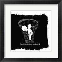 Framed Basketball Baby