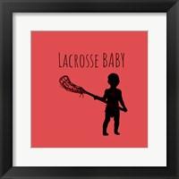 Framed Lacrosse Baby