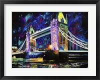 Framed London Tower Bridge at Night