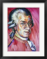Framed Wolfgang Amadeus Mozart