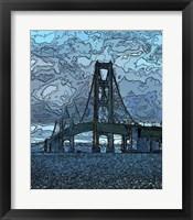 Framed Mackinaw Bridge