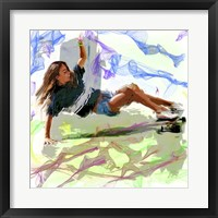 Framed Woman Skateboarder